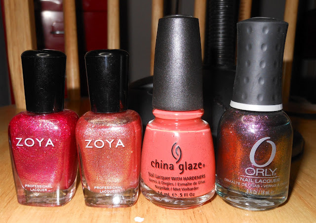 Zoya Gloria, Zoya Tiffany, China Glaze Life Preserver, and Orly Space ...