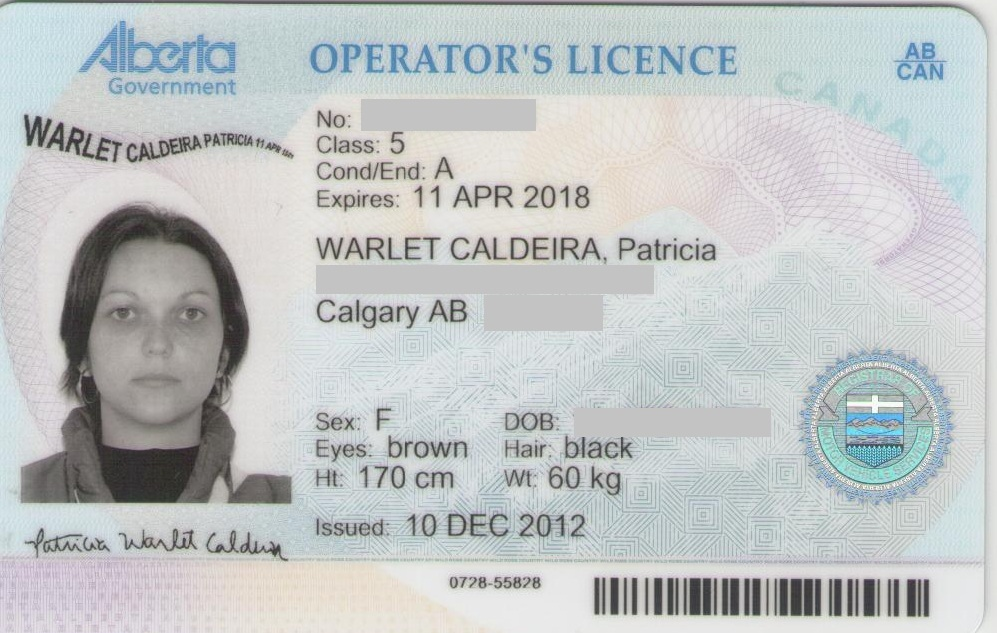 Alberta driver s licence for California dmv motor carrier permit