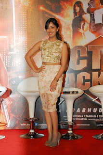Yami Gautam Sizzling Short Designer Skirt with Sleeveless Top at Action Jackson Traielr Launch
