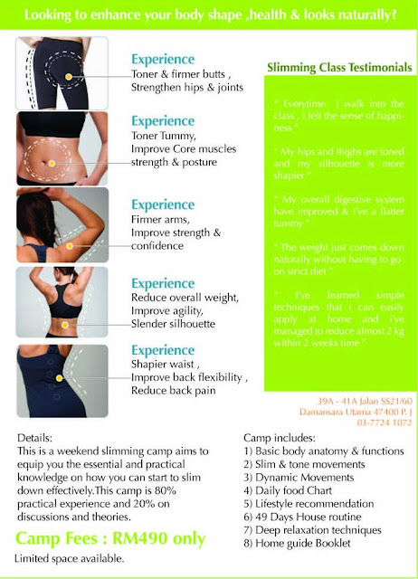 NSR Centre Slimming weekend course