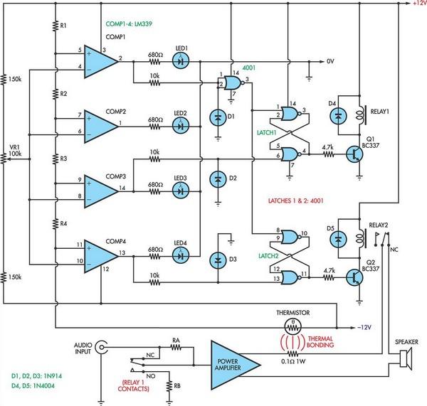 Loudspeaker Protector Monitors Current
