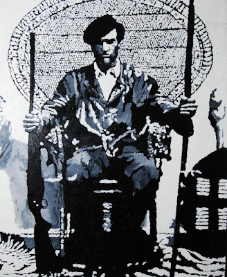 huey newton black panther party leader art