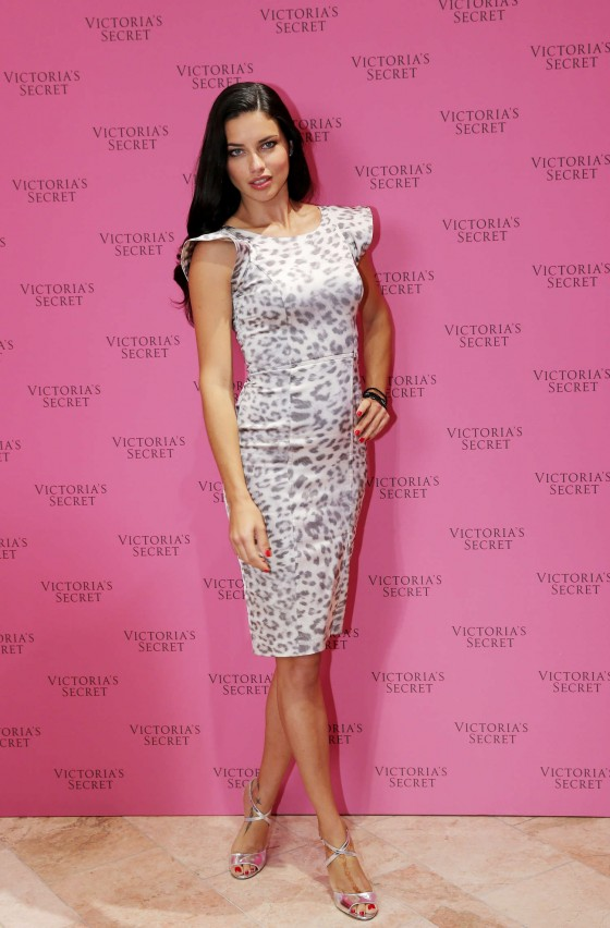 Adriana Lima at the VS Fantasy Bra Launch in Dubai