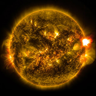 THE FIRST BIG SOLAR FLARE OF 2015