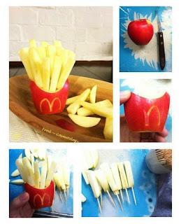 Presentacion divertida de Manzanas, Ideas de Decoracion para Mesas