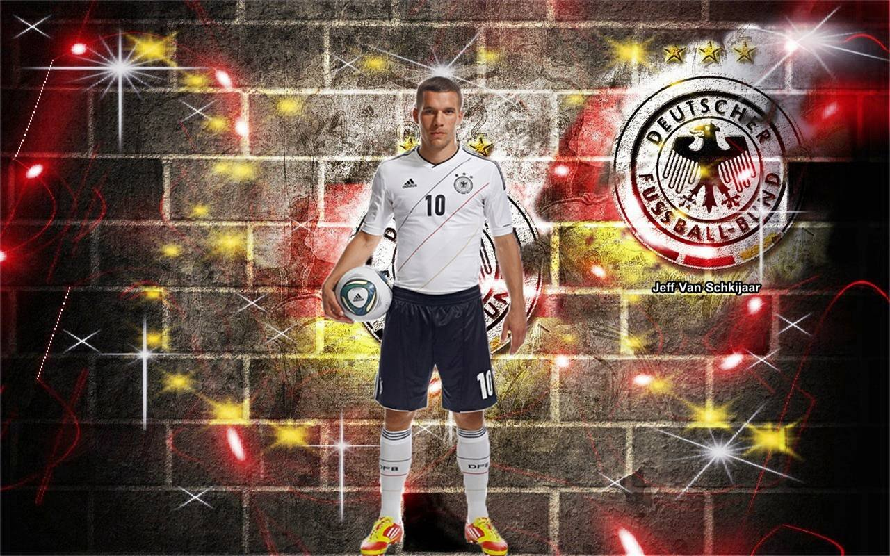 Football: Lukas Podolski 2013 HD Wallpapers