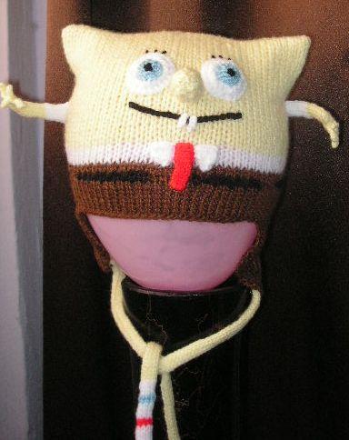 Knitting Galore Spongebob Squarepants Hat Pattern