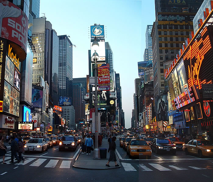 World visits mostly visited place times square new york for Best places to go in nyc at night