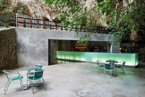Marzua el bar de las cuevas dels hams dise o de - Estudio arquitectura mallorca ...