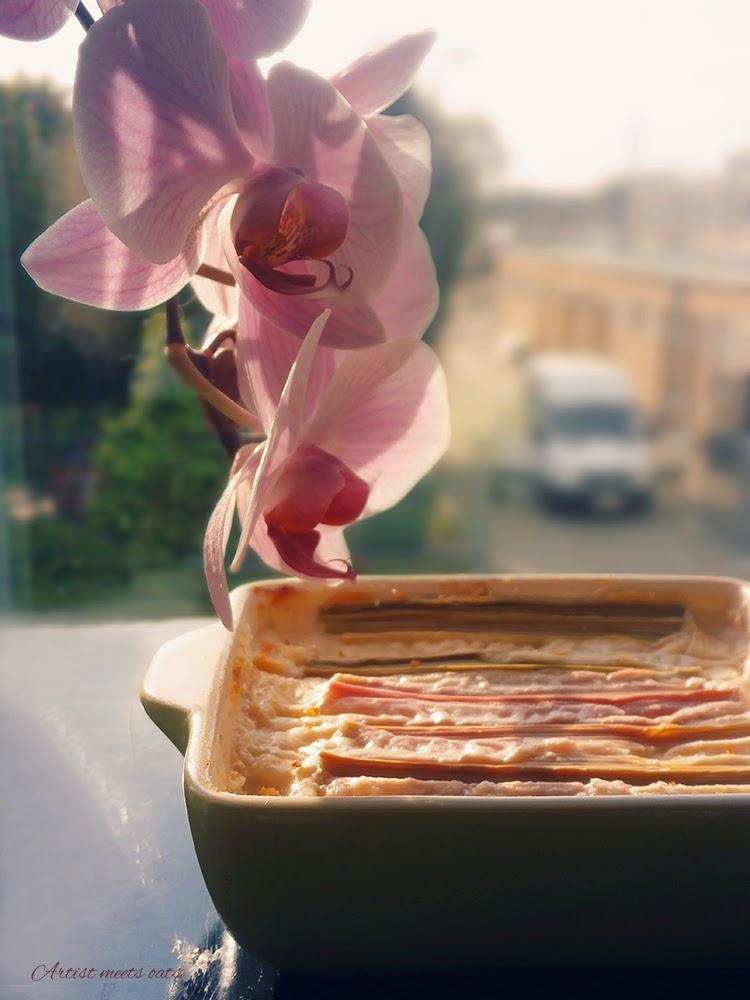 sernik z rabarbarem, sernik śniadaniowy