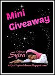 Mini Giveaway by Syira Lokman.
