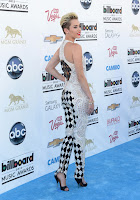 Miley Cyrus black and white jumpsuit