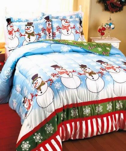 Full - Queen Snowman Comforter Set Christmas holiday Décor