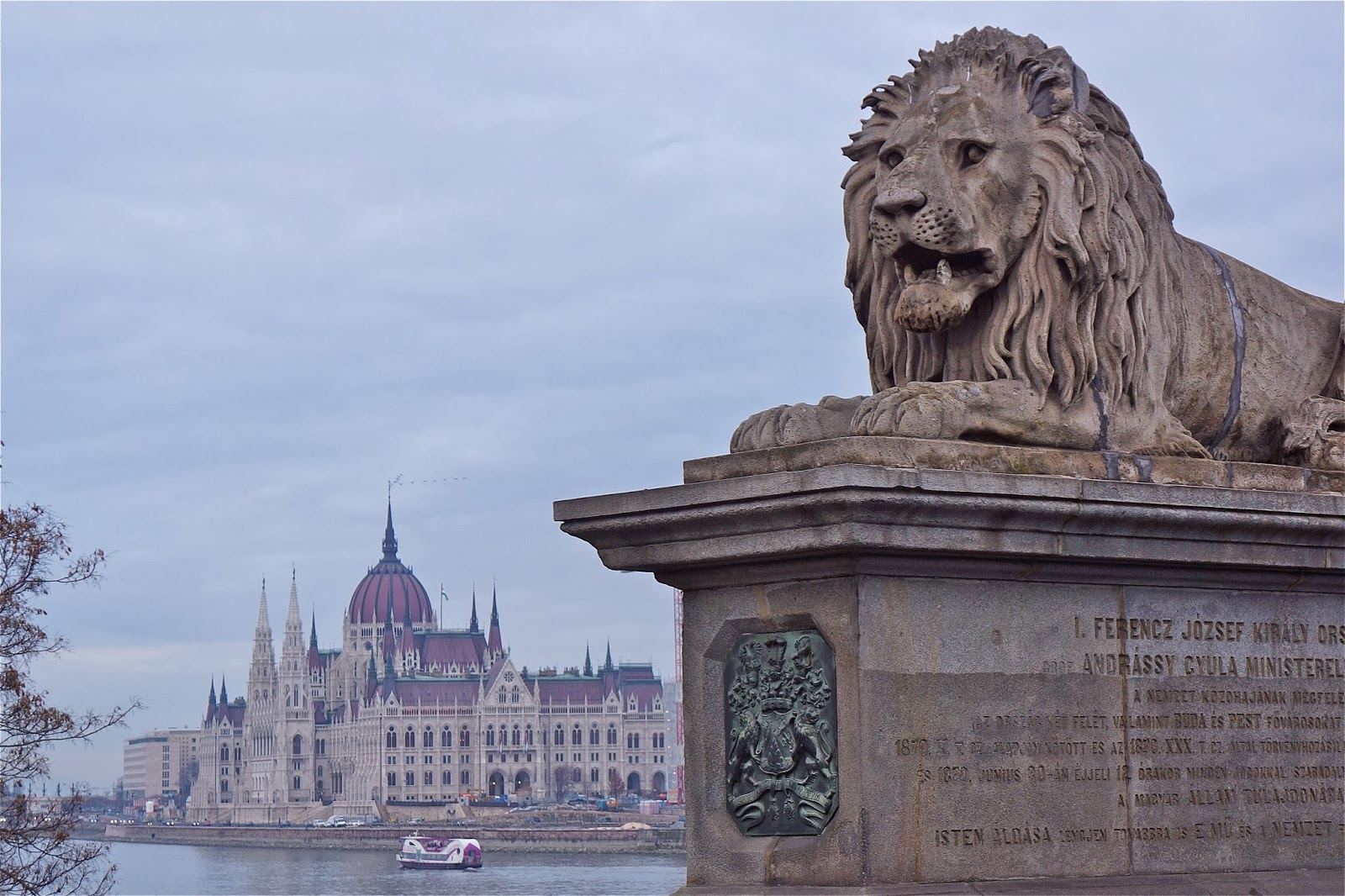 Budapest Parliament and the Chain Bridge.
