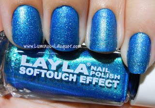 Layla Softouch Effect Turquoise Splash