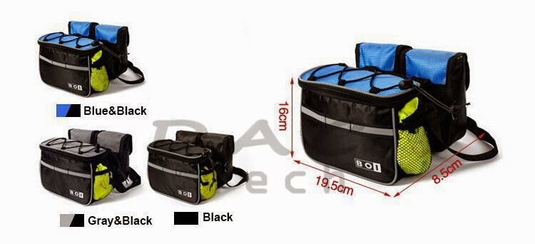 BOI 4 in 1 Front Top Frame Cycling bike Bag Pouch Holder bicycle
