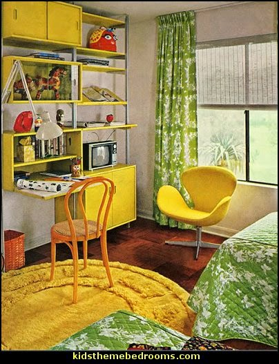 modern house plans  groovy funky retro bedroom pictures - 60s style decorating