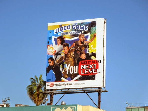 Video Game High School season 3 YouTube billboard