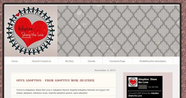 http://adoptionsharethelove.com/2013/11/04/open-adoption-from-adoptive-mom-heather/