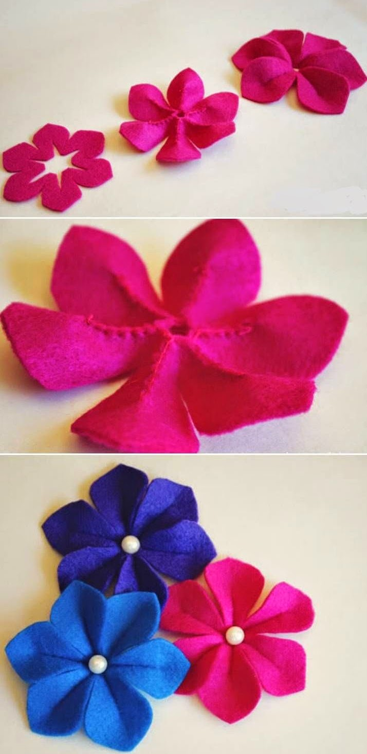 DIY, Flores de Fieltro con Volumen