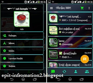 BBM Mod Full Transparan Versi 2.9.0.45 + Block R Feature