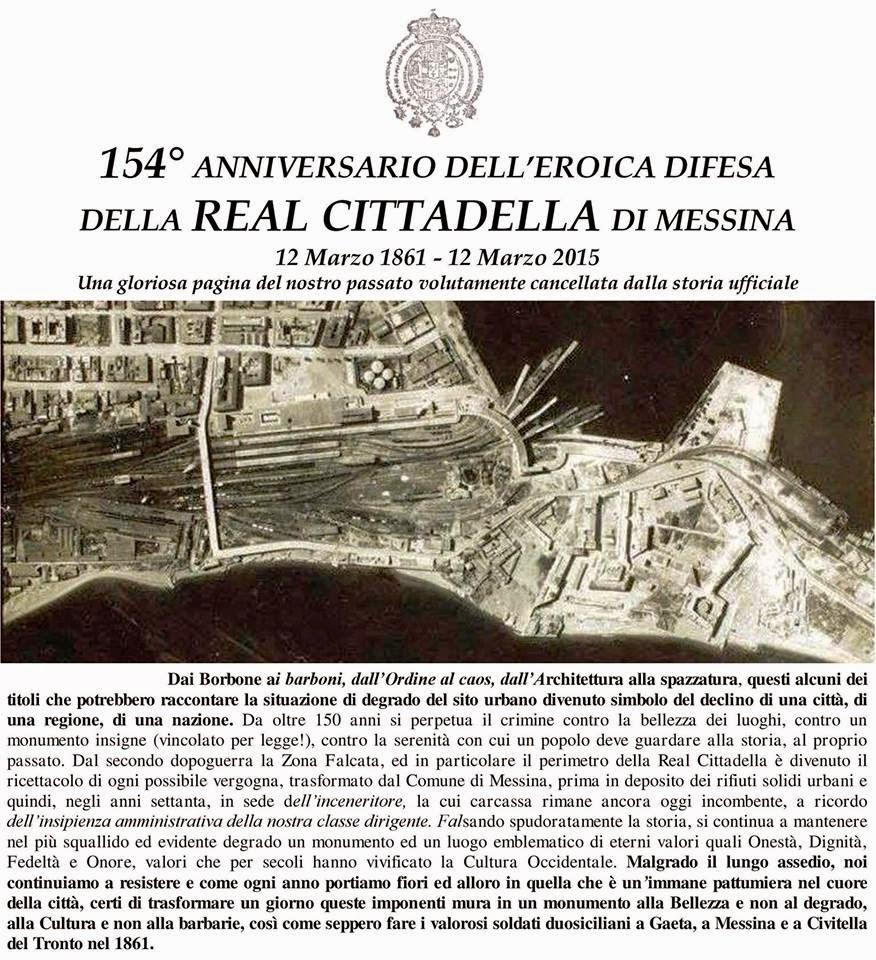 COMMEMORAZIONE DEI CADUTI IN DIFESA DELLA REAL CITTADELLA DI MESSINA