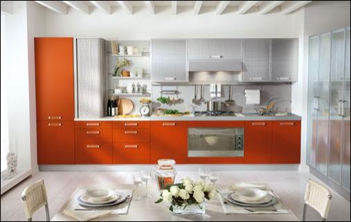 Orange kitchen ideas room design ideas for Orange kitchen ideas