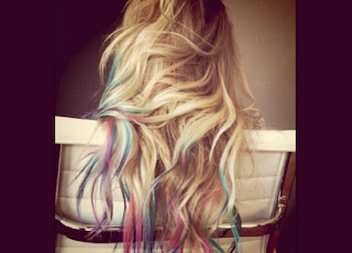 new lauren conrad tie dye hair