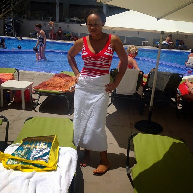 Actress Uchenna Nnanna on Vacation with Her Hubby in Spain