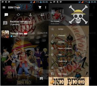 BBM Mod Terbaru Versi 2.10.0.31 Tema Anime One Piece Clone