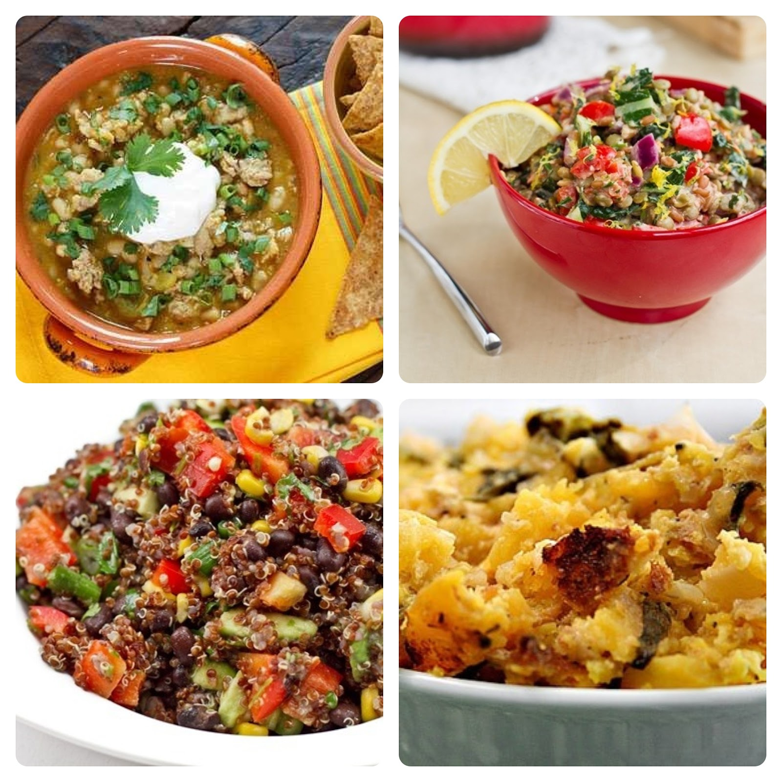 Top Left: Crock Pot Turkey White Bean Pumpkin Chili Top Right ...