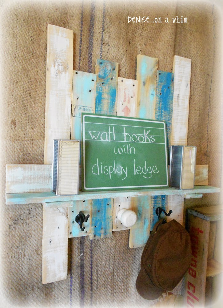 Display Ledge and Wall Hooks from a Shipping Crate from Denise on a Whim