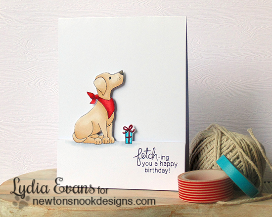 Labrador Dog Birthday Card by Lydia Evans | Fetching Friendship Stamp set by Newton's Nook Designs