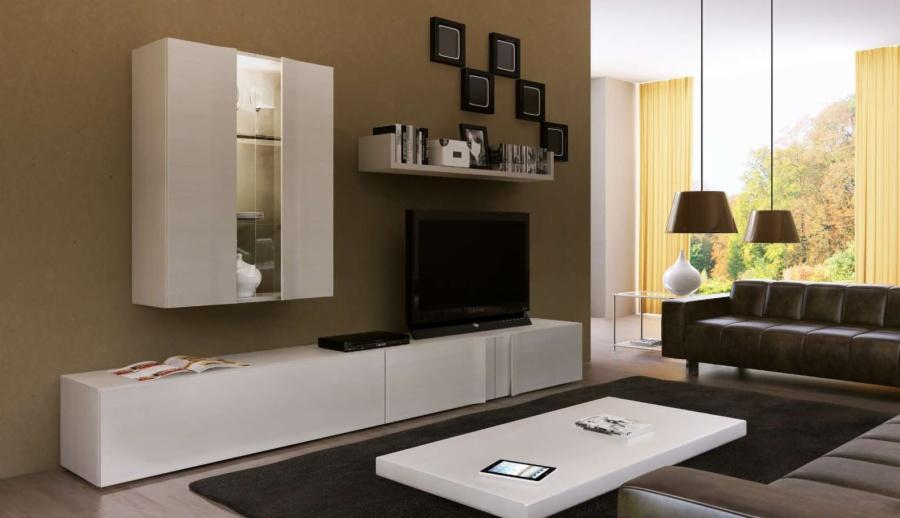 Muebles salon blancos - Muebles bajos para salon ...