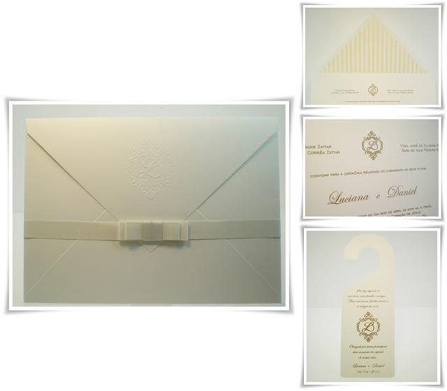 Casamento de Luciana e Daniel, Modelo Envelope 2 e Cartão 6.