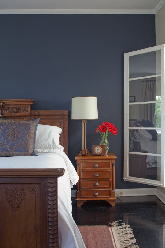 The lovely side inspiration for my midnight blue bedroom for Blue jean paint color