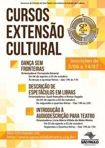 Escola de Teatro promove cursos de Dança, Libras e Audiodescrição