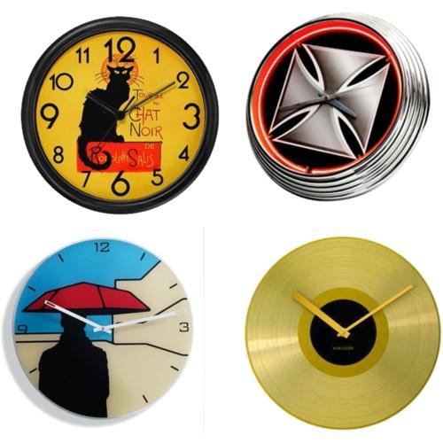 Modernos relojes de pared y alarmas decorar casa y hogar - Reloj de pared moderno ...