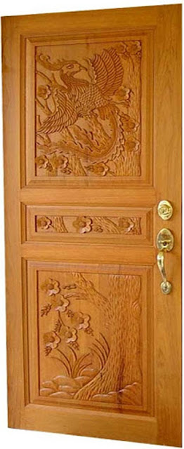 Latest kerala model wood single doors designs gallery i for Traditional wooden door design ideas