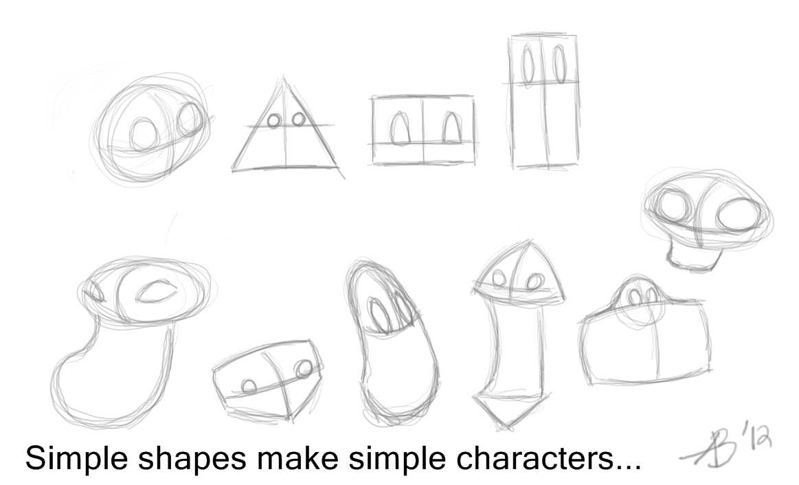 Simple Character Design Illustrator : Anthony bachman illustrator: 186 simple shapes = simple characters