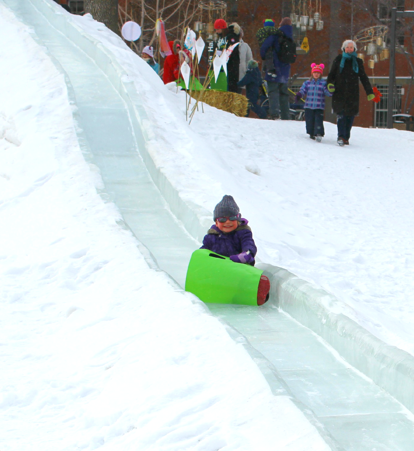 Ice Slide on Campus