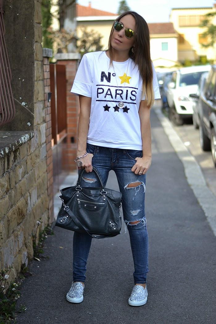 jeans tshirt balenciaga