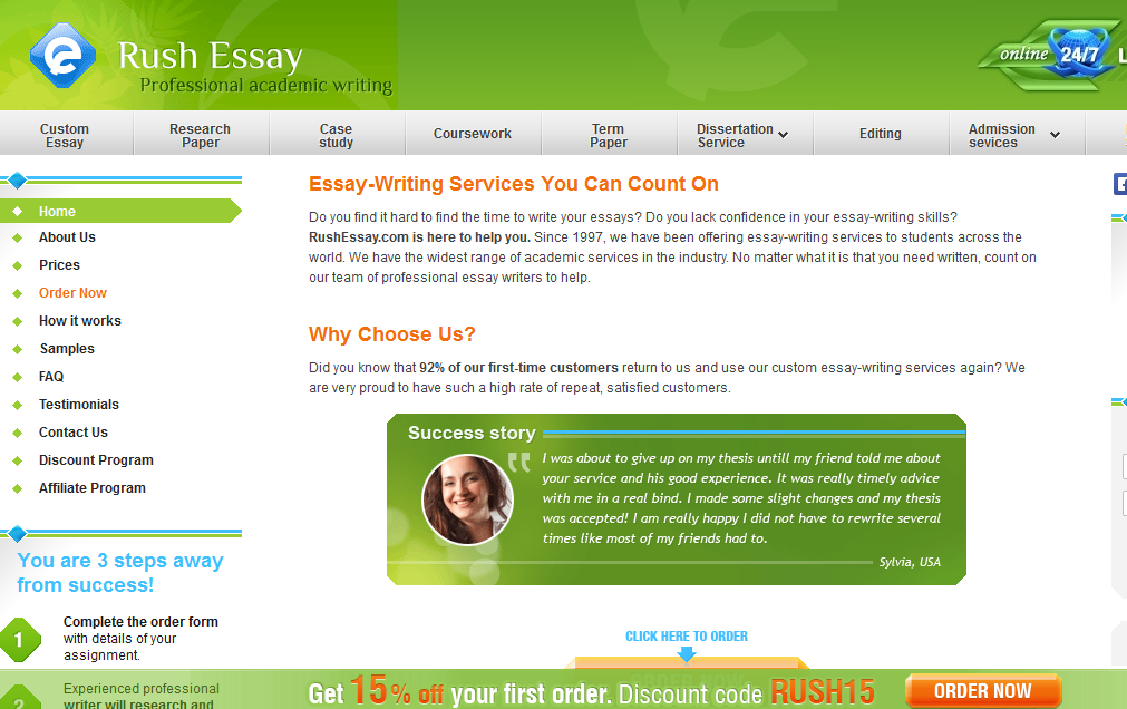 rushessay.com review You need a quick and reliable service to order papers from rushessay is the number 1 choice place an order in less than 10 minutes and get your essay on time.
