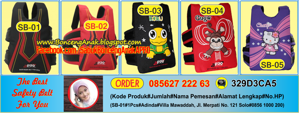 Call. 085627-222-63 | Sabuk Bonceng Anak Apro | Sabuk Bonceng Motor | Boncengan Anak