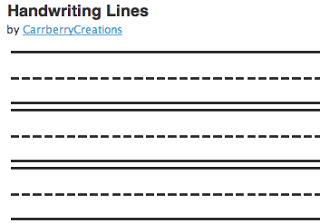Lines For Writing | New Calendar Template Site