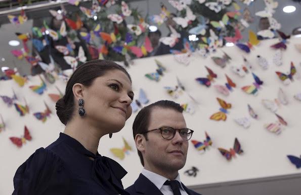 Crown Princess Victoria of Sweden and Prince Daniel of Sweden visited Hankuk National Rehabilitation Center