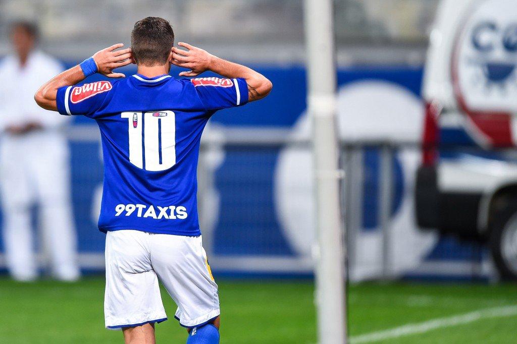O uruguaio Arrascaeta marcou o gol de desempate do Cruzeiro contra o Palmeiras (Foto: Fred Magno/Light Press/Cruzeiro)