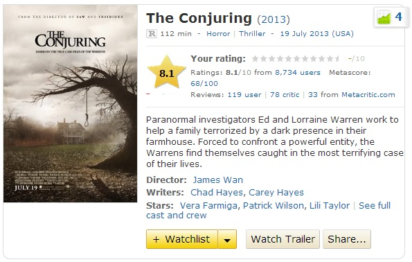 Watch The Conjuring Full Movie Online Free