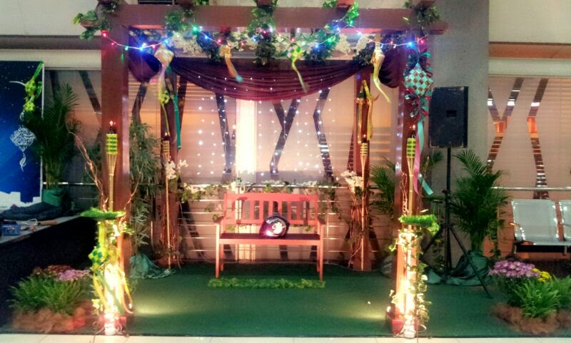sentuhan sutera dekorasi booth tema majlis hari raya
