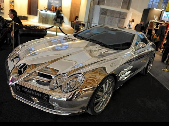 Pure White Gold Mercedes Benz, cool, awesome